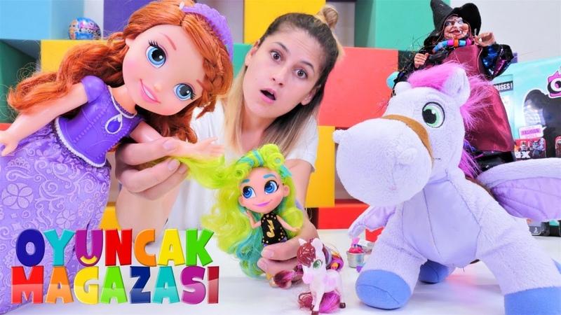 Ayşenin oyuncak mağazası! Cadı Prenses Sofia olup Hairdorables alıyor! Sihirli video
