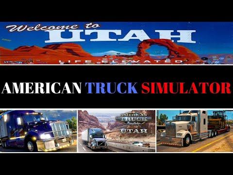 American Truck Simulator. Новое DLC Utah (Юта). Геймпад (gamepad) Xbox 360. [ATS2, АТС]