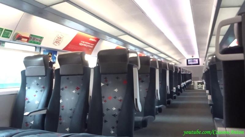 Kolej w Rosji. Nowy pociąg ESz2 na stacji Odincowo / Поезд ЭШ2 на станции Одинцово