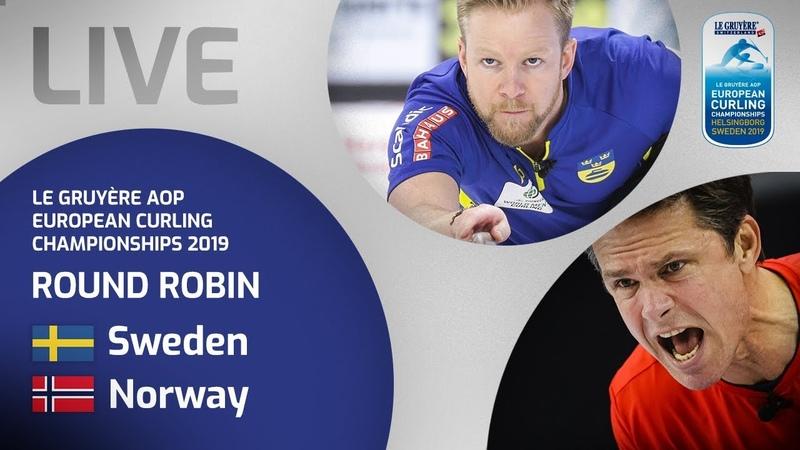 Sweden v Norway - Men's round robin - Le Gruyère AOP European Curling Championships 2019