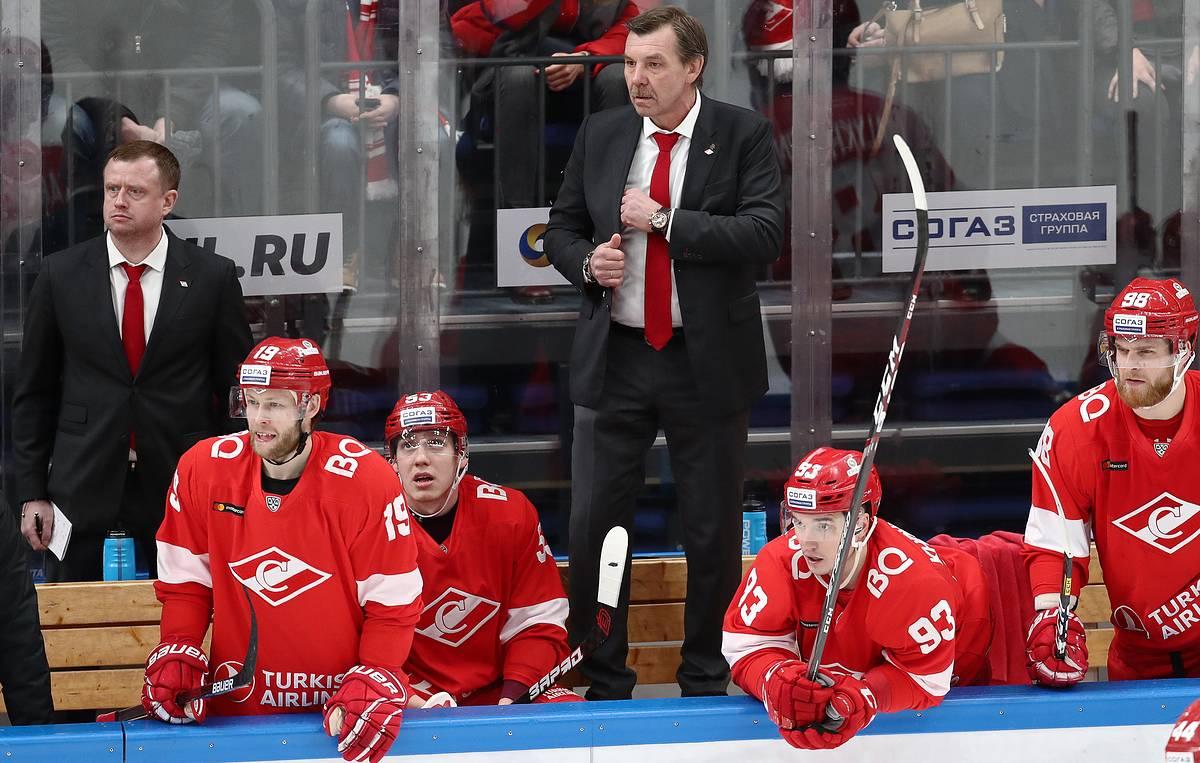 Олег Знарок и спартаковцы