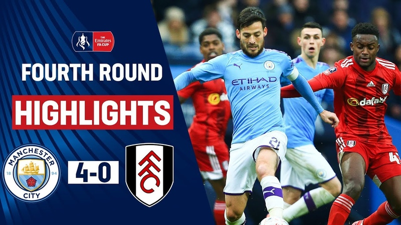 City Punish Fulham as Jesus Bags Double Manchester City 4 0 Fulham Emirates FA Cup 19 20