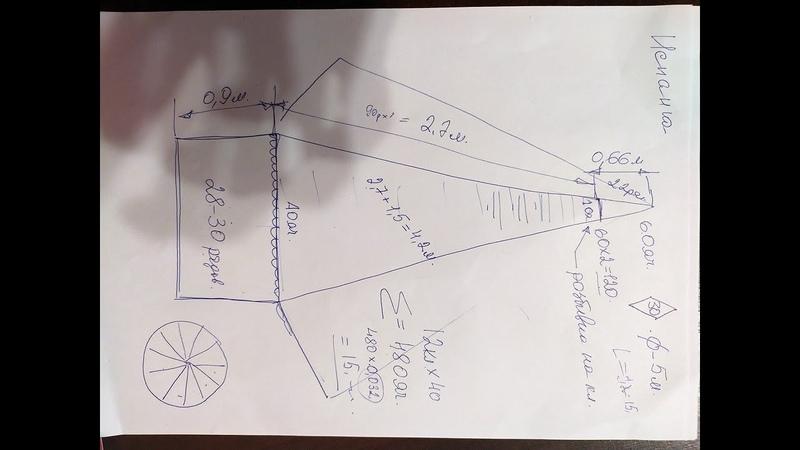 Моя схема плетения намёта кастинговой сети диаметром 5метров