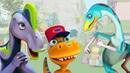 Развивающие мультики с песенками для детей про Поезд динозавров. Большой Пикник - 4 части подряд!