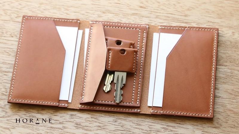 キャッシュレス三つ折り財布「新しい三つ折り財布ができました。」 フリーパターン レザークラフト