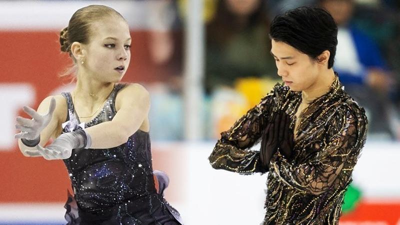 Трусова и Ханю прыгнули параллельный четверной тулуп в Канаде
