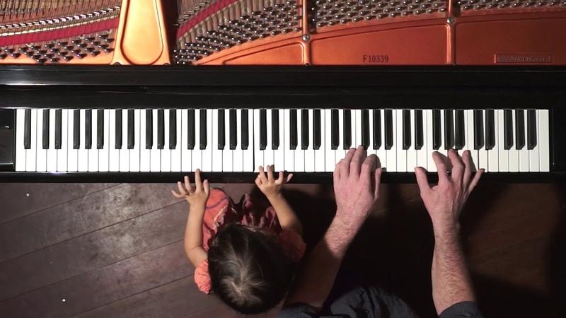 "Handel Passacaglia"" Piano Duet Emilie Dad"