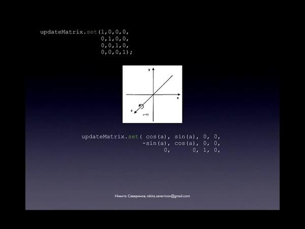 3 Game Physics Матричные преобразования Вращения Matrix transformations Rotations Spins JS