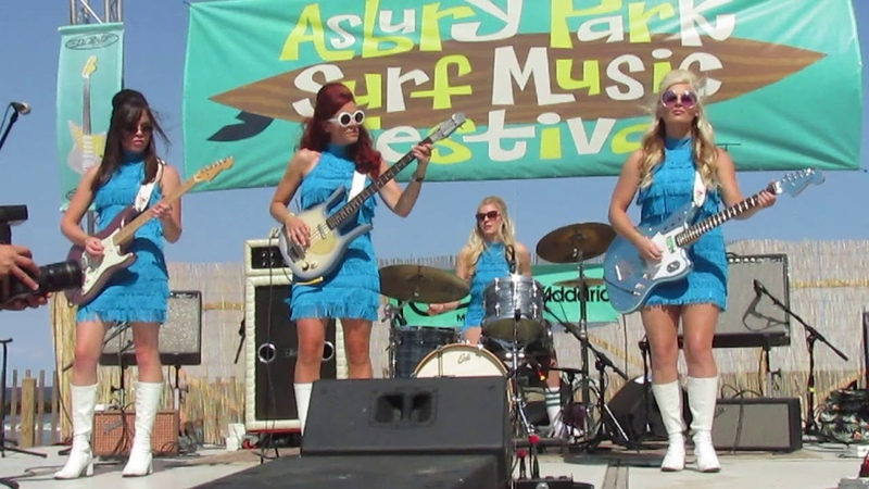 THE SURFRAJETTES SIBONEY - CHA CHA HEELS ASBURY PARK SURF MUSIC FESTIVAL 08-26-2017