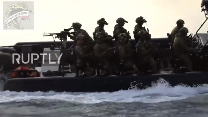 Сирия. Война в Сирии. ССО. Российский спецназ тренируется в Средиземном море