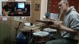 Ermakov Sergey/Egorov Sergey -The Meters - Cissy Strut (drum and guitar cover)