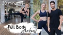 20 MIN FULL BODY WORKOUT STRETCH TONE No Equipment For Beginners Sanne Vloet
