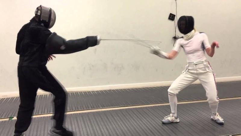 Fencing Lesson: Professor Steven Paul and Georgina Usher