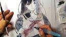 【初投稿】Watercolor Painting●透明水彩イラストメイキング【世外桃源】