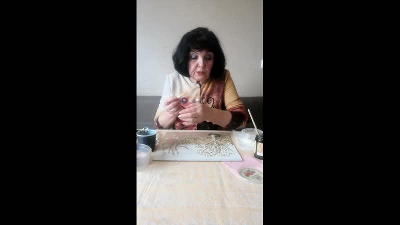 Видео версия мастер класса по изготовлению Картины Цветущий май 2 урок
