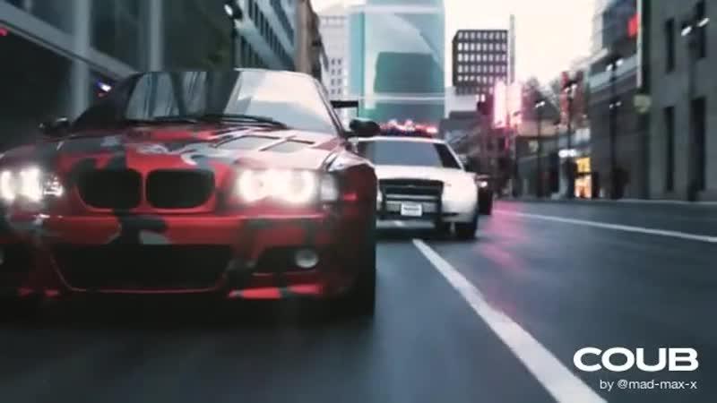 Трейлер NFS 2020 The46ERS и BMW m3 GTR против полиции CGI анимация 3ds max Corona render
