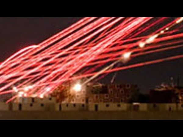 WOW Urban CLOSE AIR SUPPORT Superb NIGHT VISION of Venom attack helicopter's TRACER FIRE