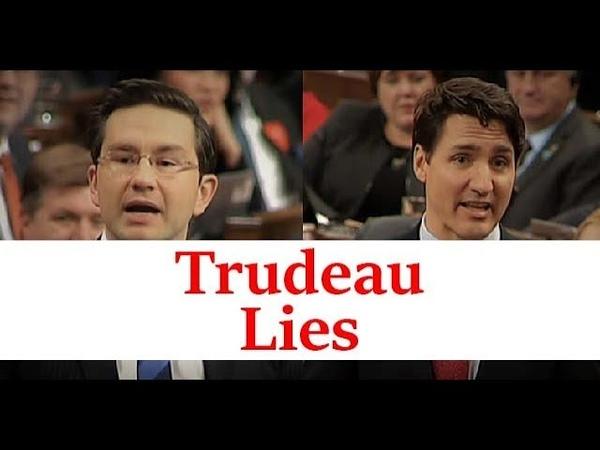 Justin Trudeau lies Pierre Poilievre catches him in that lie