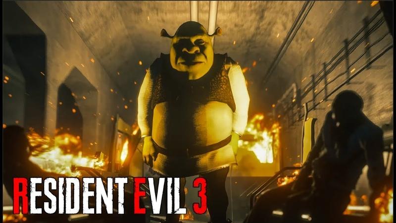 Shrek Encounter in Raccoon City Resident Evil 3 Nemesis Remake