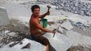 Pedreira de Dona Inês PB bajau quebrando pedra