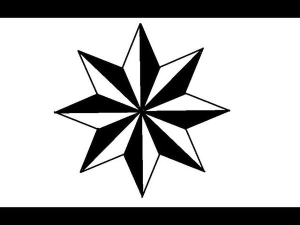 ✵ Как Нарисовать Восьмиконечную Звезду ✵ Vasmi Nece Cekilir ✵2019✵