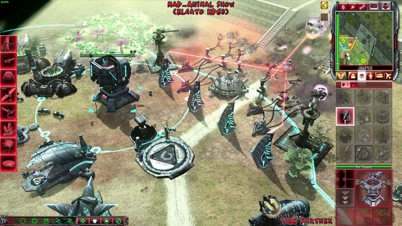 (Super Rush)CnC 3 Tiberium Wars Heroic Mod 2vs2 Nod vs Scrin Compstomp 2 Online 2018