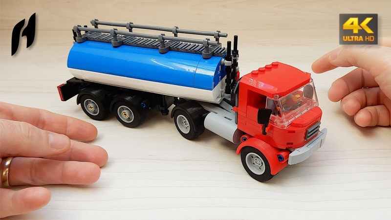 How to Build Truck with Tanker Semi Trailer (MOC - 4K)