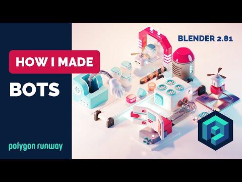 Bots in Blender 2.8 - 3D Illustration Process