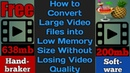 How to Compressed Video Without Losing Quality Using Free Software No Watermark