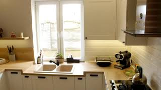Уютная и большая кухня в скандинавском стиле
