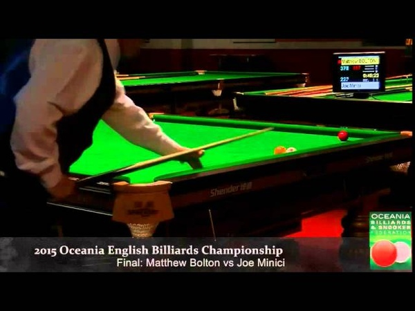 Final Session 1 Oceania English Billiards Championship 2015