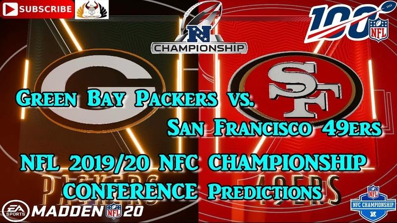 Green Bay Packers vs San Francisco 49ers NFL 2019 20 NFC CHAMPIONSHIP Predictions Madden NFL 20
