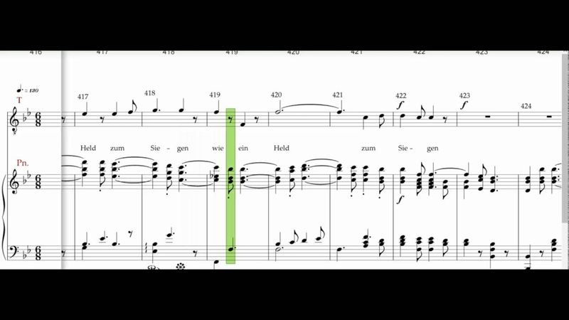 Beethoven 9th symphony Allegro assai vivace alla Marcia Tenor 1