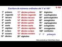 1-10 Escritura de números ordinales del primero al centésimo ¡¡¡BUENÍSIMO