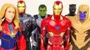 Мстители Марвел Супергерои Новые Игрушки Железный Человек Халк Танос Капитан Марвел