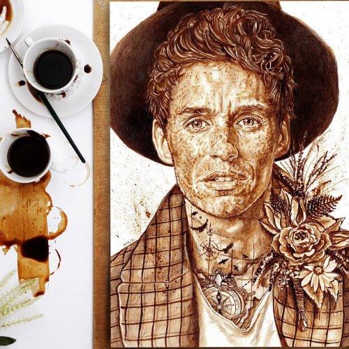 Кофейные рисунки художницы-самоучки Нурии Сальседо