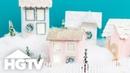 Make Glittery Houses for Your Christmas Village HGTV