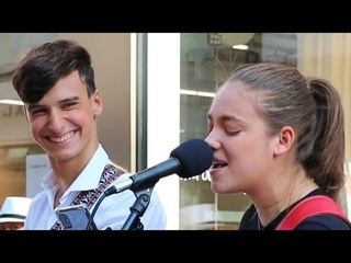 HIS REACTION WHEN SHE SINGS   Unchained Melody - Righteous Brothers   Allie Sherlock & Cuan Durkin