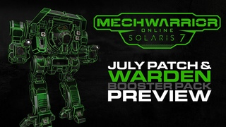 MechWarrior Online July Patch Warden Booster Pack Preview