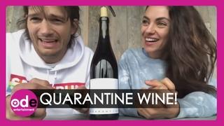Mila Kunis And Ashton Kutcher Launch Quarantine Wine!