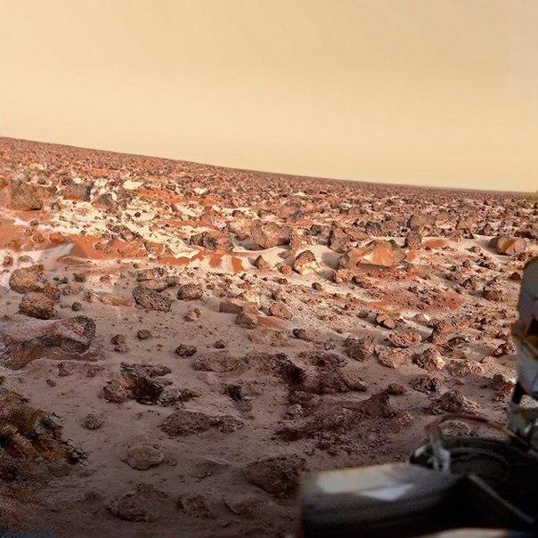 """иней на Марсе, , АМС """"Викинг-3"""""""