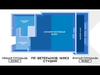 ЖК Солнечный город: студия с ремонтом, мебелью, без занижений и обременений