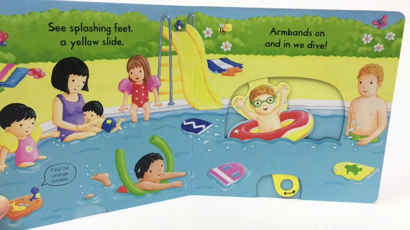 Busy Swimming - Push-Pull-Slide Campbell Books - Kiddy Library
