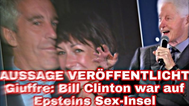 AUSSAGE VERÖFFENTLICHT Giuffre Bill Clinton war auf Epsteins Sex-Insel