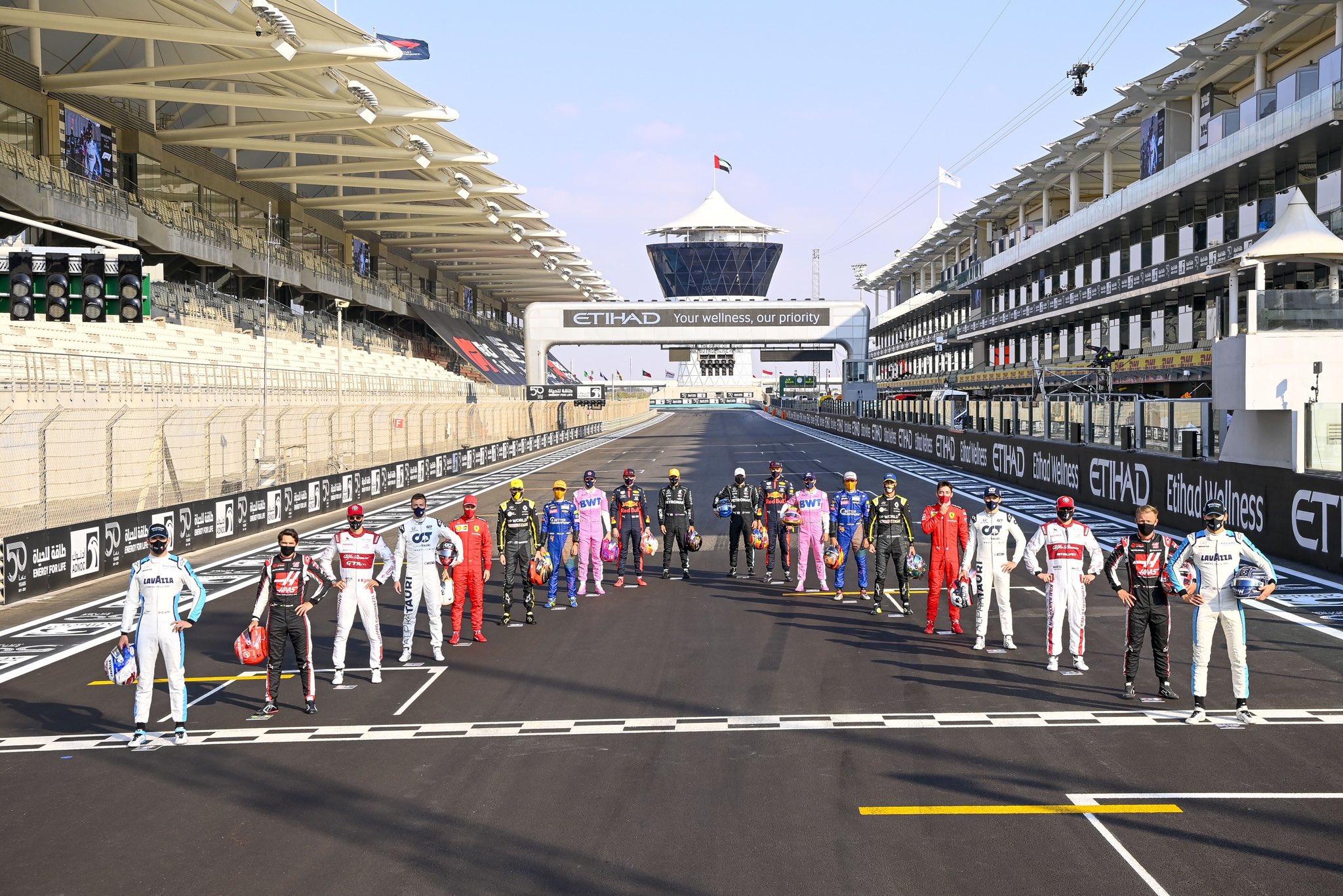 Пилоты Формулы-1 перед последним этапом сезона-2020 в Абу-Даби
