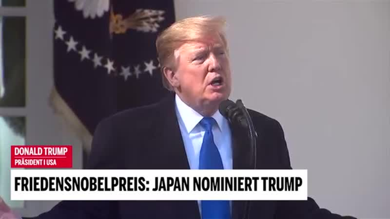 Friedensnobelpreis Japan nominiert Trump