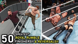 Top 50 Greatest Royal Rumble Finishers & Reversals!! WWE 2K22 Countdown