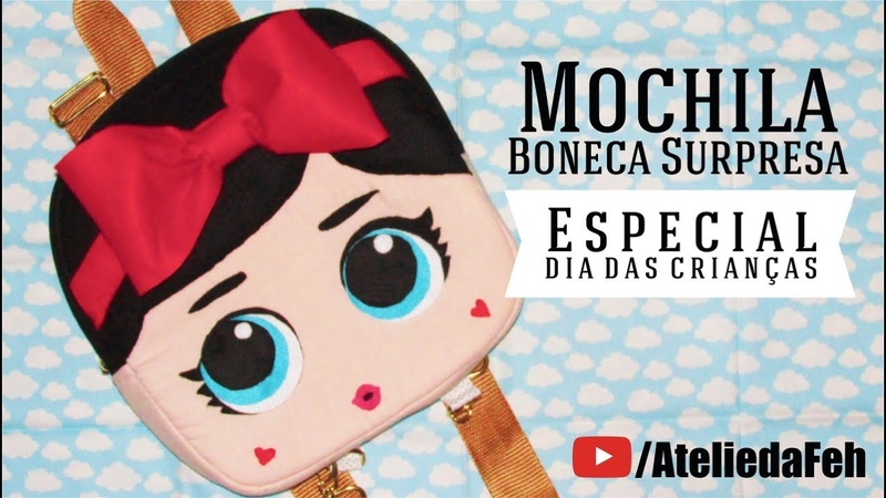 DiY Mochila Boneca Surpresa | Minha Mãe na Costura