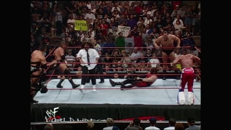 WM Трипл Эйч против Кейна против Рока против Биг Шоу против Британского бульдога против Мэнкайнда Unforgiven 1999