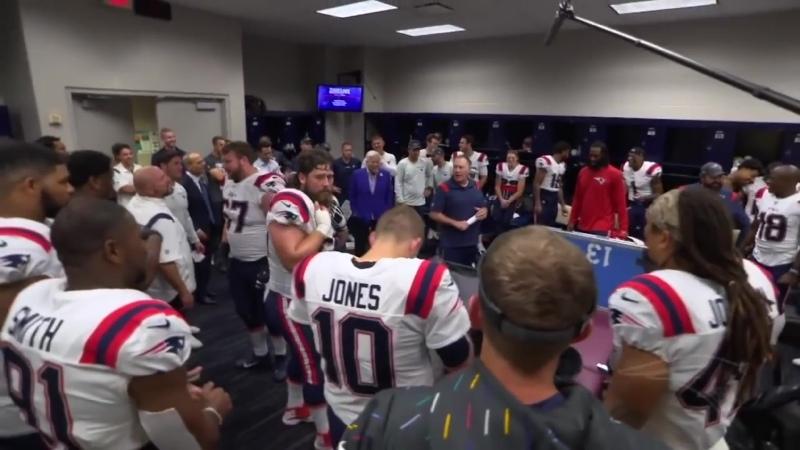 Inside the Locker Room Patriots Celebrate Win Over Texans NFL Week 5